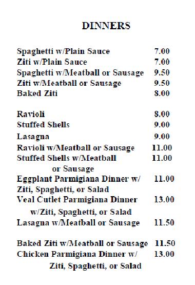 italian villa diners north arlington pizza